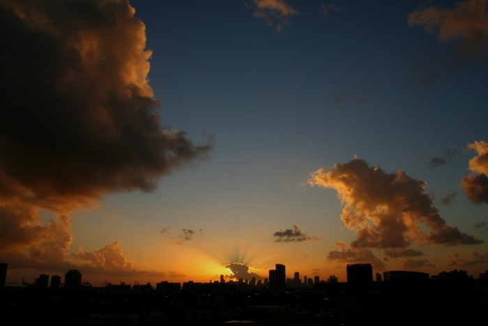 Skyline Miami Sunset