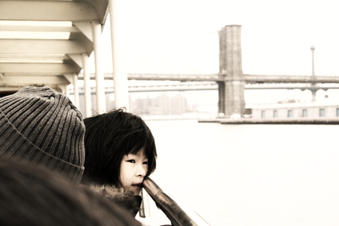 Little Asian Girl on East River